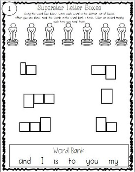 Pre-Primer & Primer Sight Word Stars: Leveled Work, Take Home Activities, & MORE