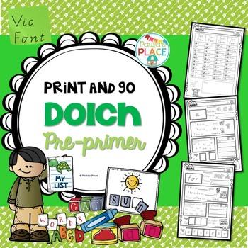 Pre Primer Print and Go Vic Font