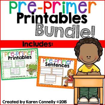 Pre-Primer Printables Bundle