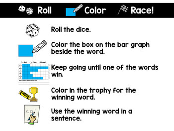 Pre-Primer Roll and Race Editable Sight Word Centers