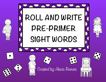Pre-Primer Roll and Write