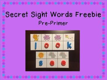 Secret Sight Words Freebie