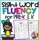 Sight Word Fluency for Pre-K and Kindergarten