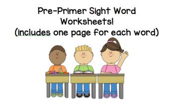 Pre-Primer Sight Word Activities!