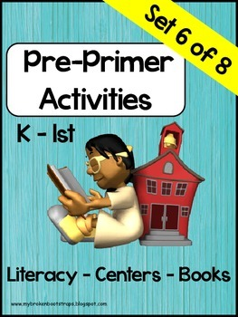 Pre Primer Sight Word Activities Set 6 of 8