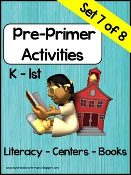 Pre Primer Sight Word Activities Set 7 of 8