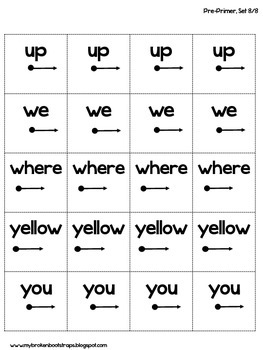 Pre Primer Sight Word Activities Set 8 of 8