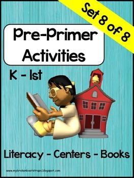 Pre Primer Sight Word Activities Set 8 of 8