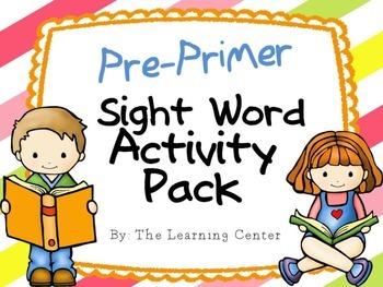 Pre-Primer Sight Word Activities