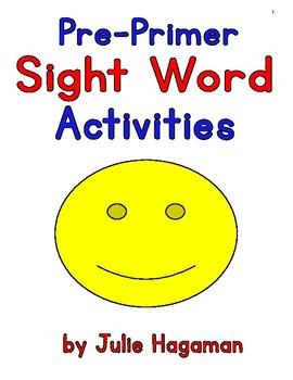 Pre-Primer Sight Word Activity Book