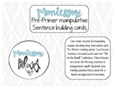 Pre-Primer Sight Word Activity (Manipulative Cards)