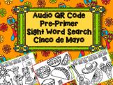 Audio QR Code Sight Word Search - Cinco de Mayo QR Code Activity