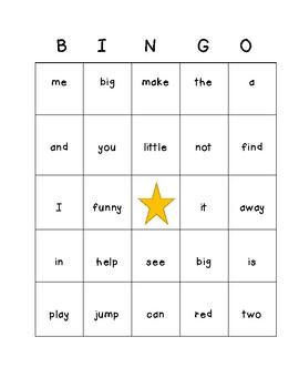 Pre-Primer Sight Word Bingo Cards