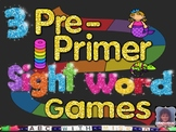 Pre-Primer Sight Word Board Games Kindergarten and First Grade Dolch Word Fun