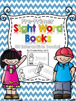 Pre-Primer Sight Word Books - Kindergarten