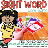 Pre-Primer Sight Word Card Game