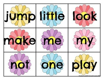 Pre Primer Sight Word Cards Spring