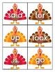 Pre Primer Sight Word Cards Turkey Theme