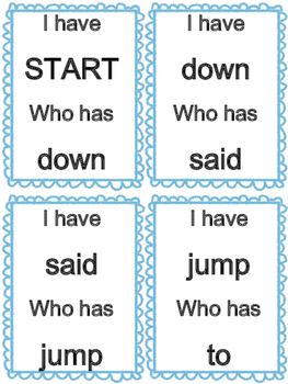 Pre-Primer Sight Words- I have... Who has...?