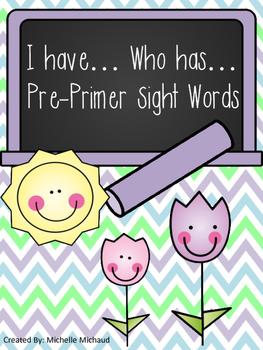 Pre-Primer Sight Word Center