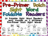 Pre-Primer Sight Word Emergent Reader Foldable Little Books