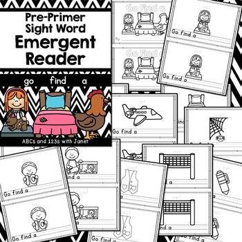 Pre-Primer Sight Word Emergent Reader (go, find, a)