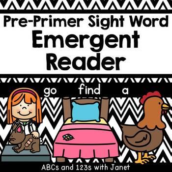 Pre-Primer Sight Word Emergent Reader (go, find, a)