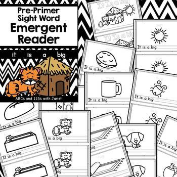 Pre-Primer Sight Word Emergent Reader (it, is, a, big)