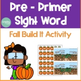 Pre Primer Sight Word Fall Activity