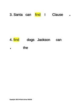 Pre-Primer Sight Word Find Re-Write Sentences