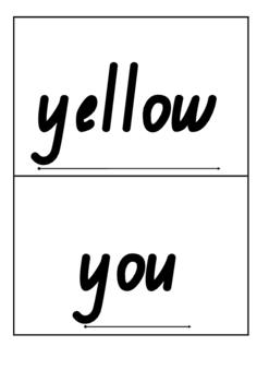 Pre-Primer Sight Word Flash Cards