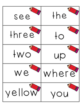 Pre-Primer Sight Word Flashcards