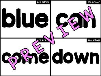 Pre-Primer Sight Word Flashcards