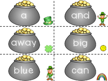 Pre-Primer Sight Word Flashcards- St. Patrick's Day