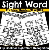 Pre Primer Sight Word Flip Book Bundle