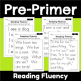 Pre Primer Sight Word Fluency Passages
