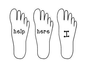 Pre-Primer Sight Word Foot Prints