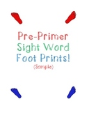 Pre Primer Sight Word Foot Prints Sample