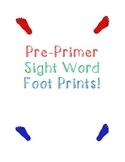 Pre-Primer Sight Word Foot Prints