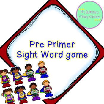 Pre Primer Sight Word Game