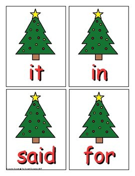 Pre-Primer Sight Word Game Christmas Edition
