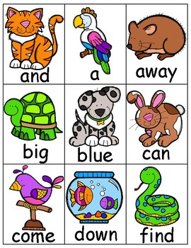 Pre-Primer Sight Word Game Pet Edition
