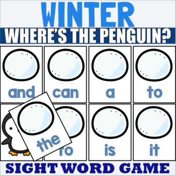 Pre Primer Sight Word Game Winter Themed