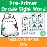 Pre Primer Sight Word Ghost Concentration Game