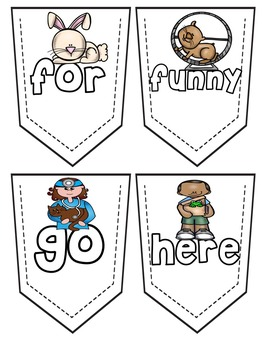 Pre-Primer Sight Word Homework Bracelets - Pet Themed!