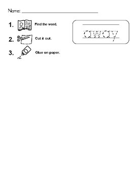Pre-Primer Sight Word Hunt