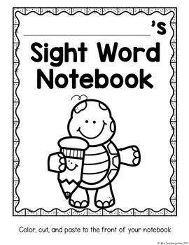 Interactive Sight Word Notebook - Pre-Primer