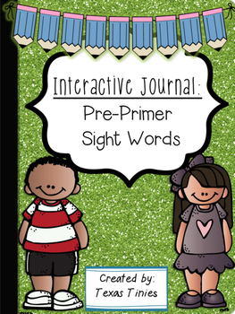 Pre Primer Sight Word Journal