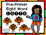 Pre-Primer Sight Word LOTTO Game ~ Thanksgiving Themed