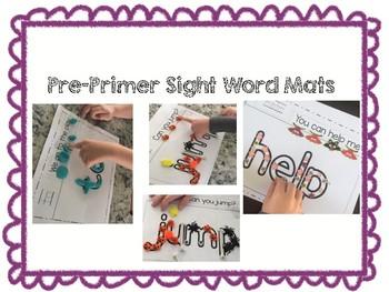 Pre-Primer Sight Word Mats